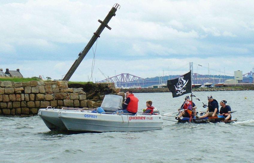 FCC Club Boat delivering 'Black Pig'